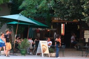 IMG_58310_TERRASSE CAFE RESTAURANT LA MONTAGNE ANTRAIGUES VILLAG